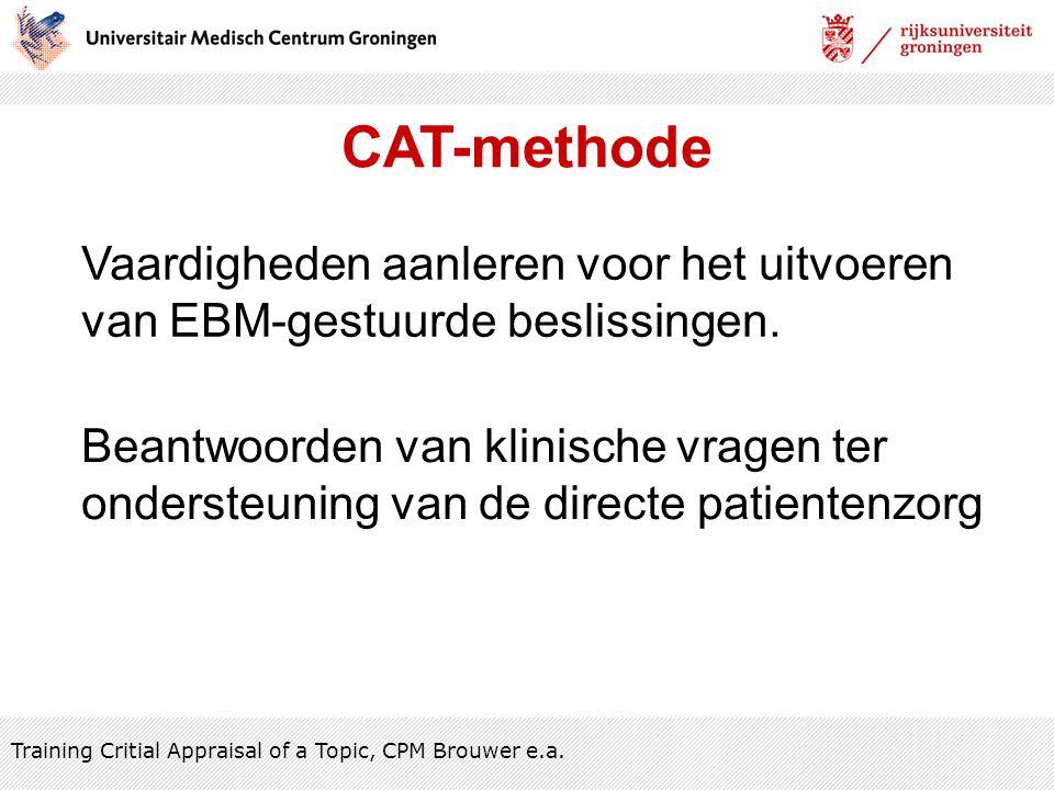 CAT-methode Vaardigheden aanleren voor het uitvoeren
