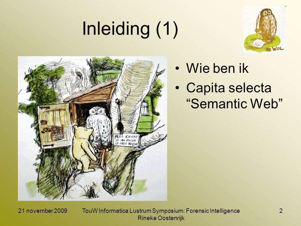 Inleiding (2) Wat is Semantic MediaWiki (SMW) Wat kun je met SMW