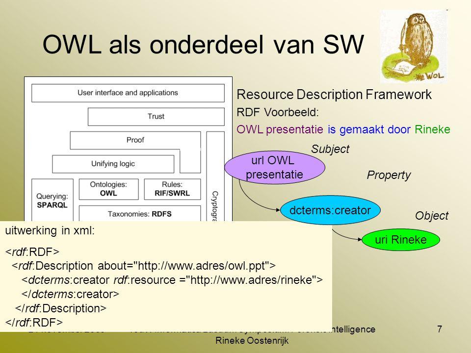OWL toepassen in SMW datamodel (beschrijvend)