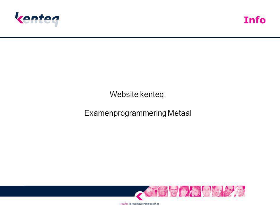 Examenprogrammering Metaal