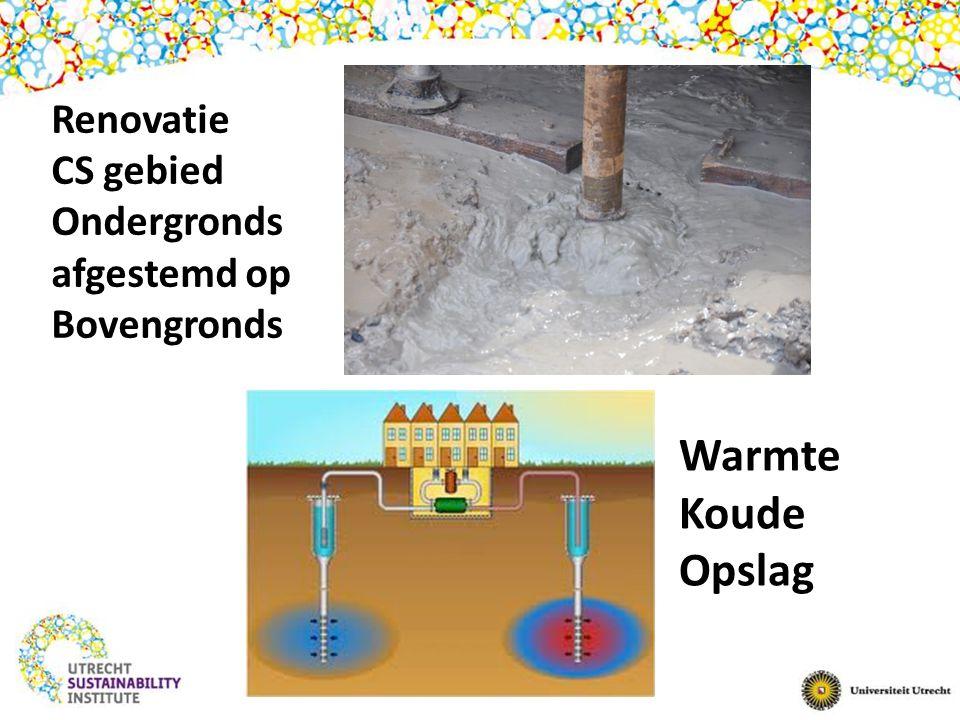 Warmte Koude Opslag Renovatie CS gebied Ondergronds afgestemd op