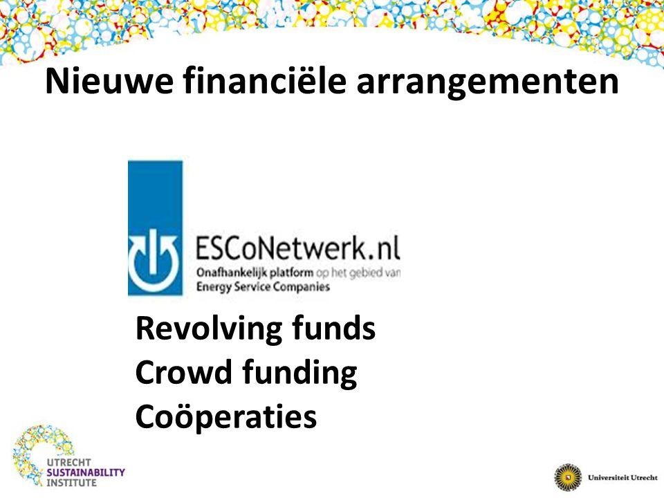 Nieuwe financiële arrangementen