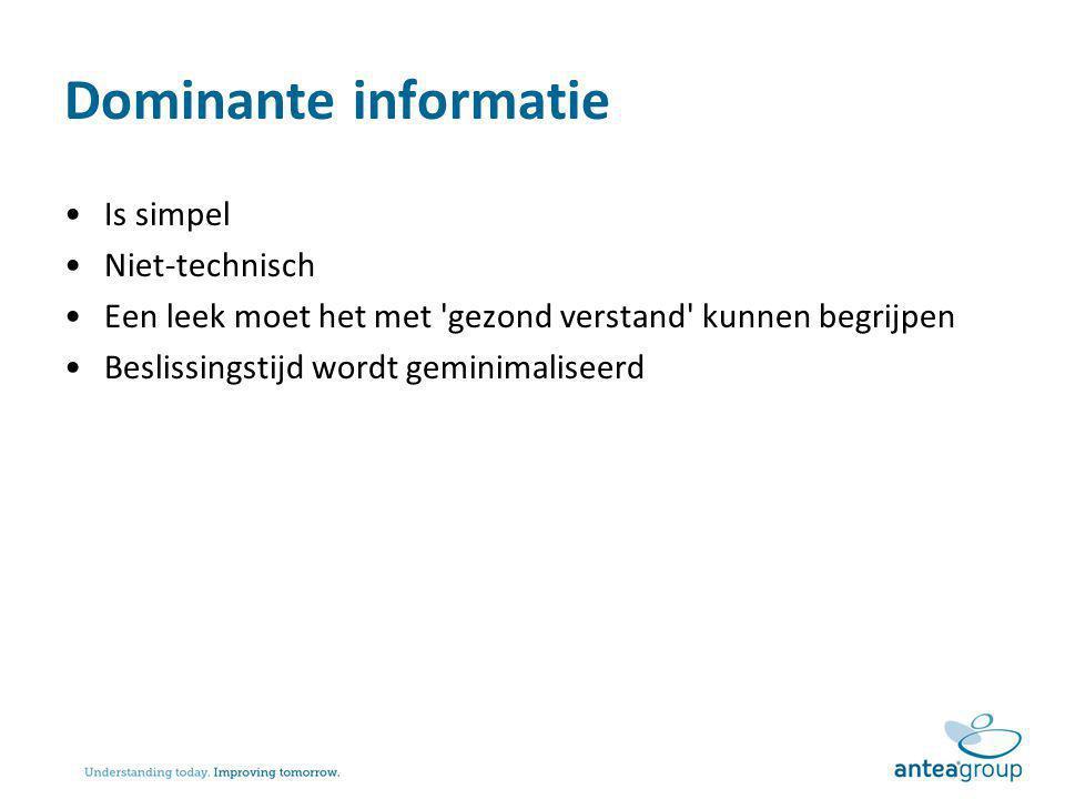 Dominante informatie Is simpel Niet-technisch