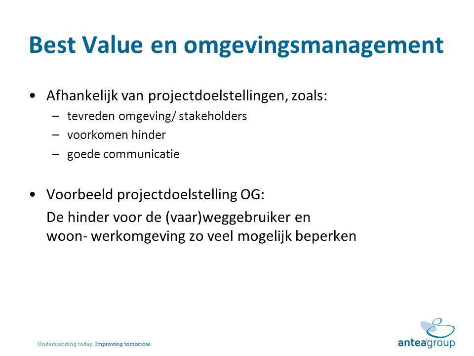 Best Value en omgevingsmanagement