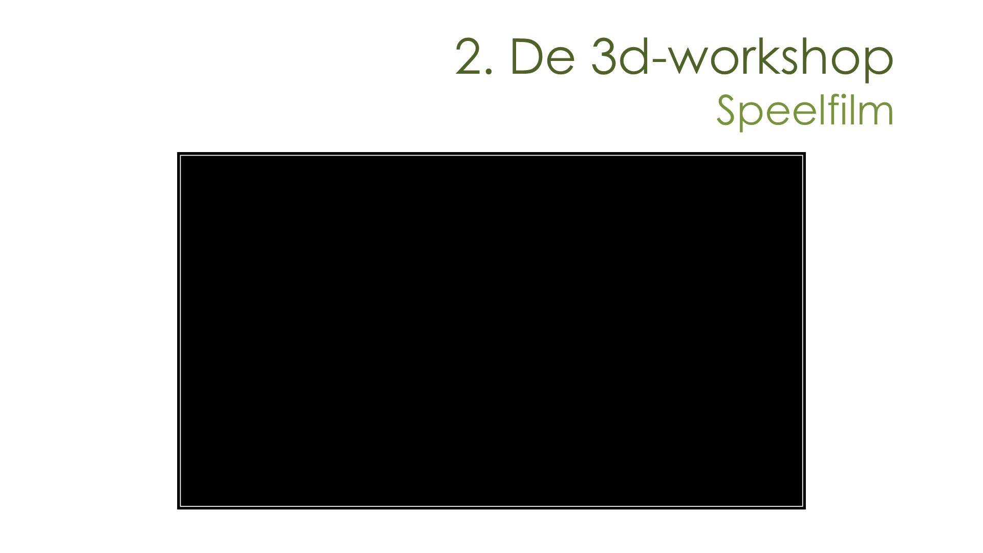 2. De 3d-workshop Speelfilm