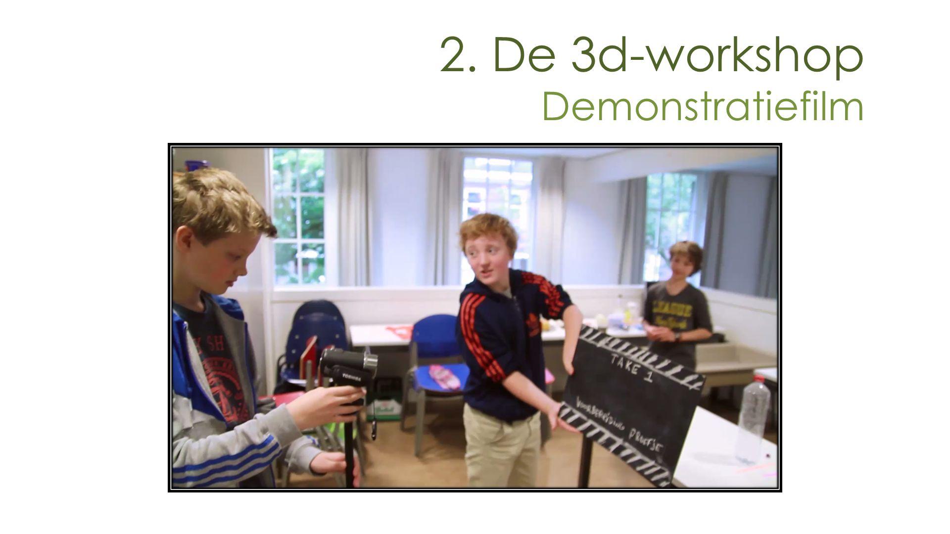 2. De 3d-workshop Demonstratiefilm