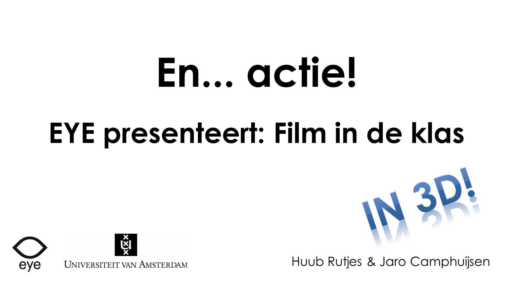 EYE presenteert: Film in de klas