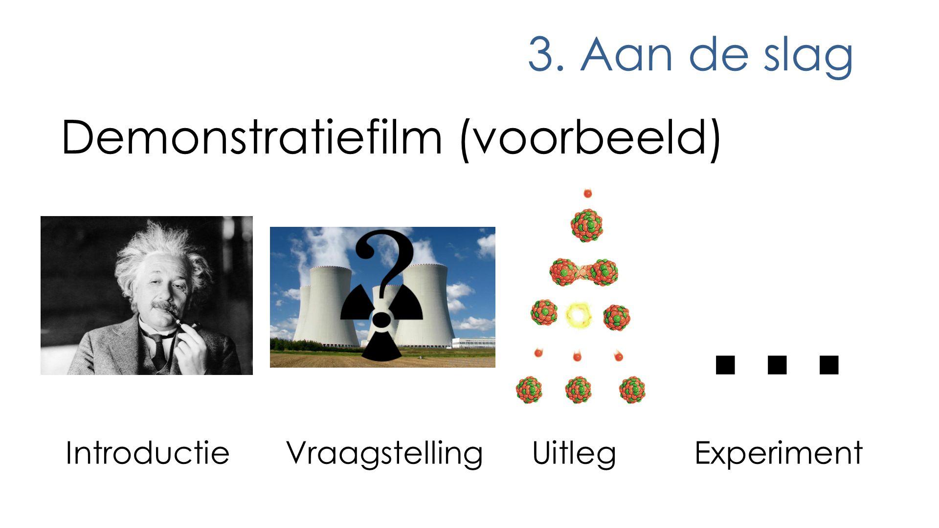 ... 3. Aan de slag Demonstratiefilm (voorbeeld) Introductie