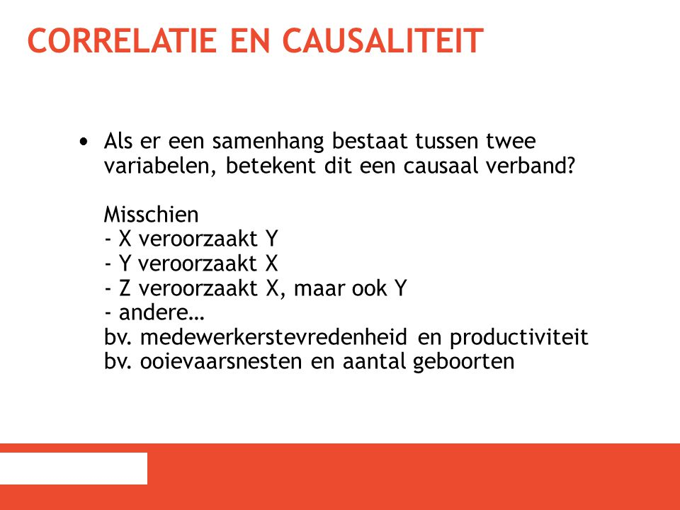 Correlatie en causaliteit