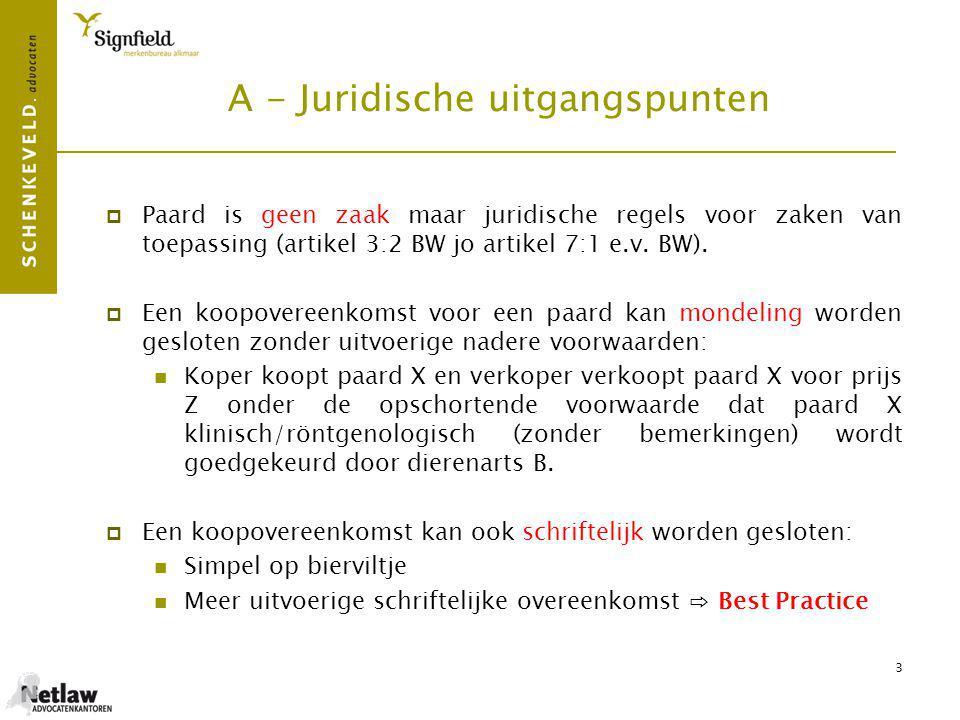 A - Juridische uitgangspunten