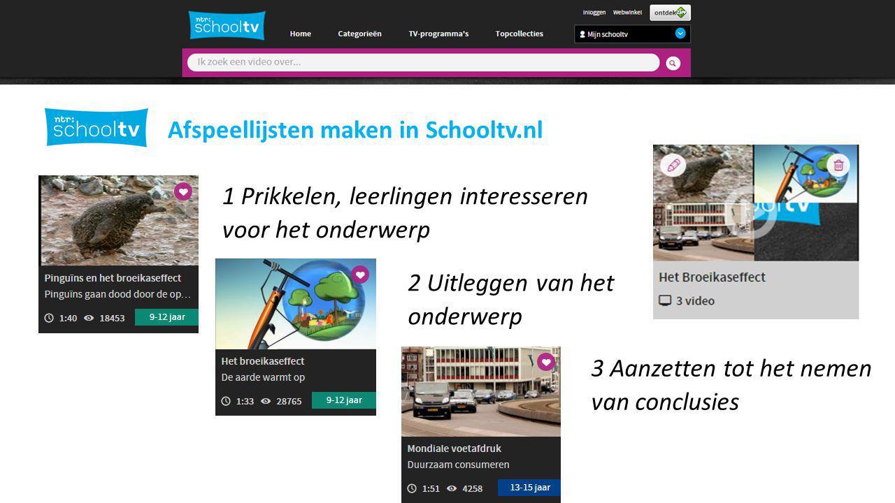 2 Afspeellijsten maken in Schooltv.nl