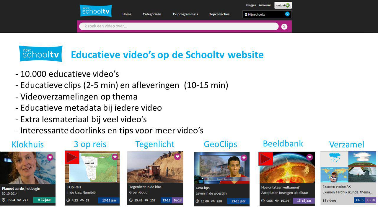 2 Educatieve video's op de Schooltv website