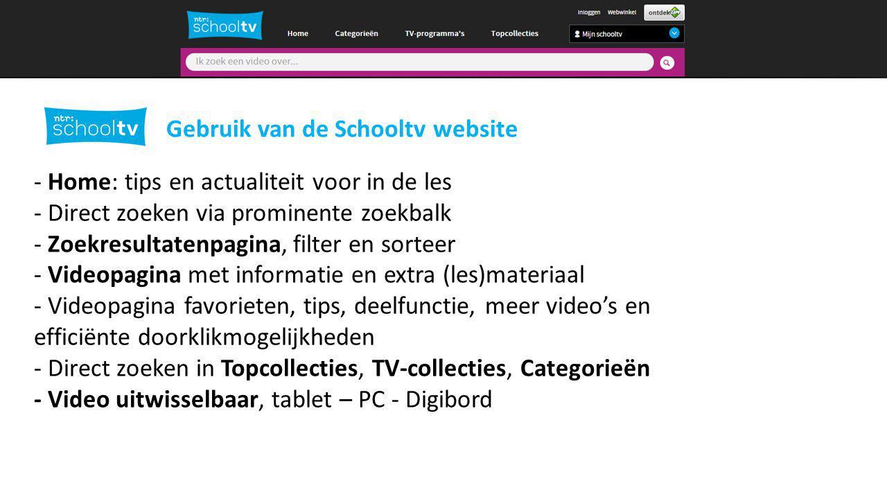 2 Gebruik van de Schooltv website
