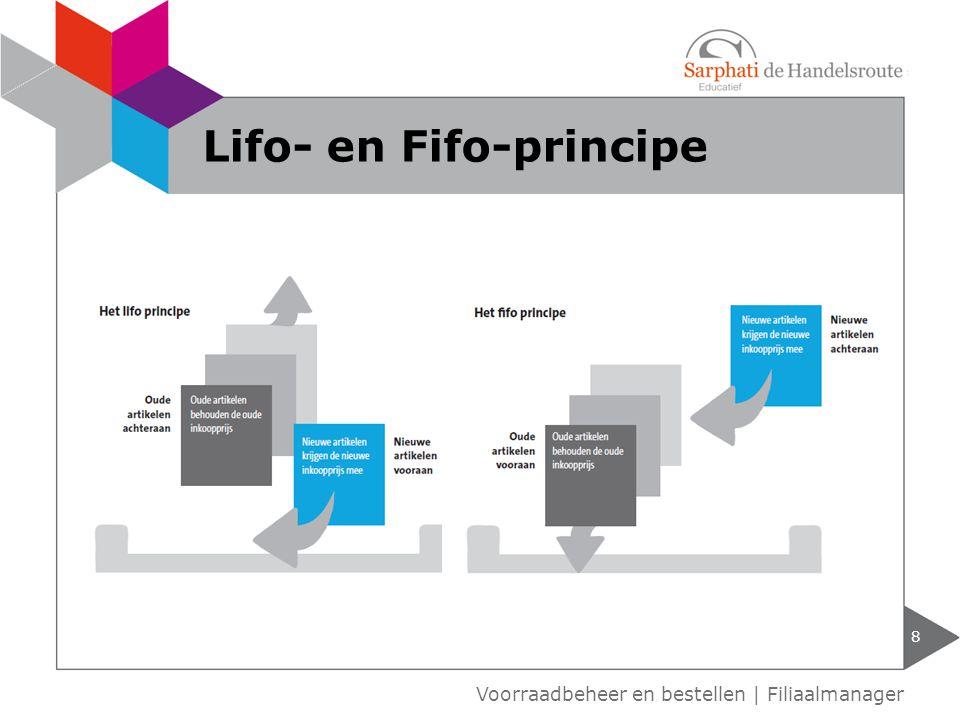 Lifo- en Fifo-principe