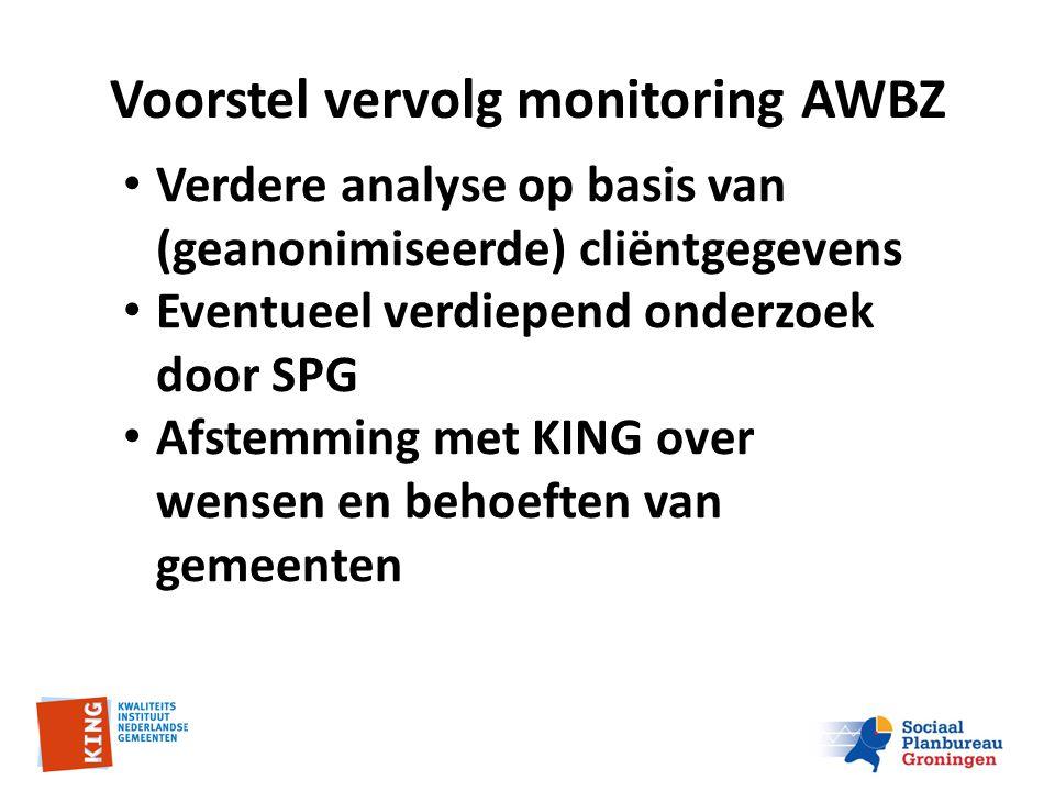Voorstel vervolg monitoring AWBZ