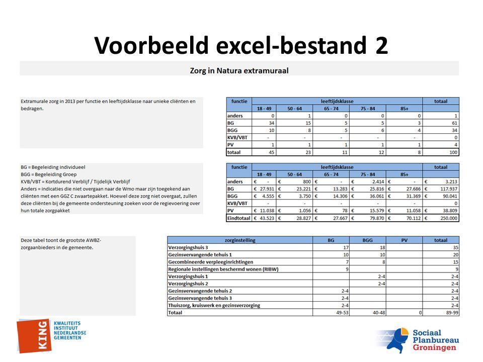 Voorbeeld excel-bestand 2
