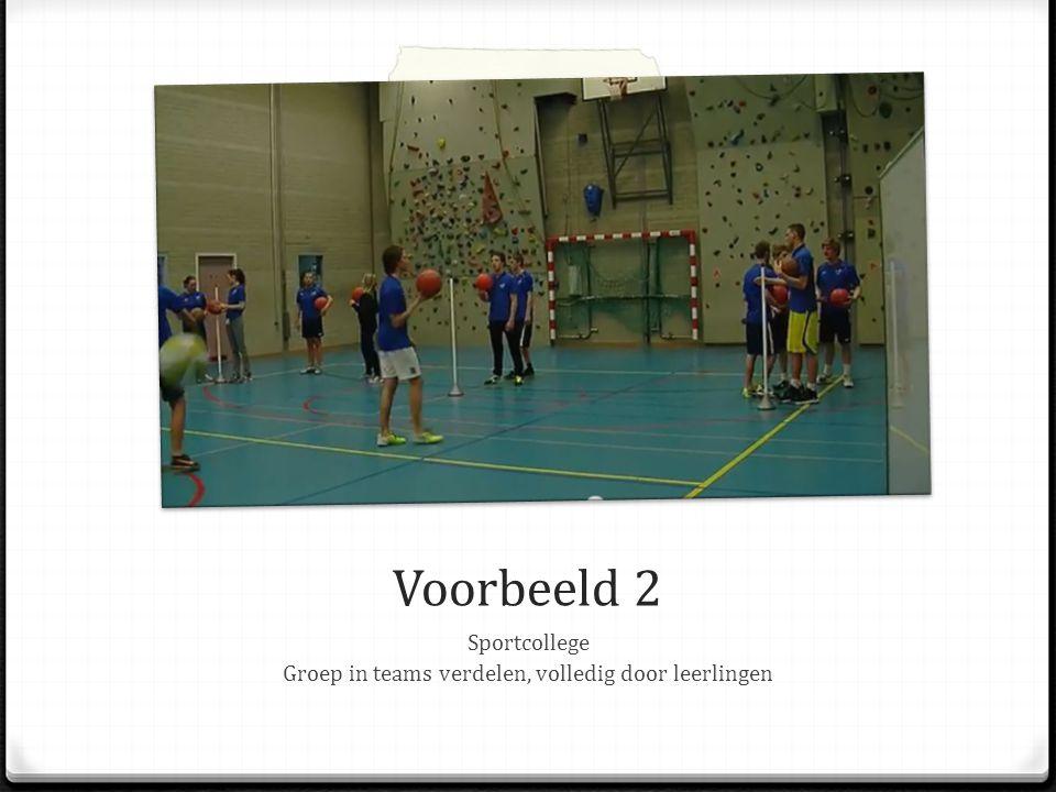 Groep in teams verdelen, volledig door leerlingen