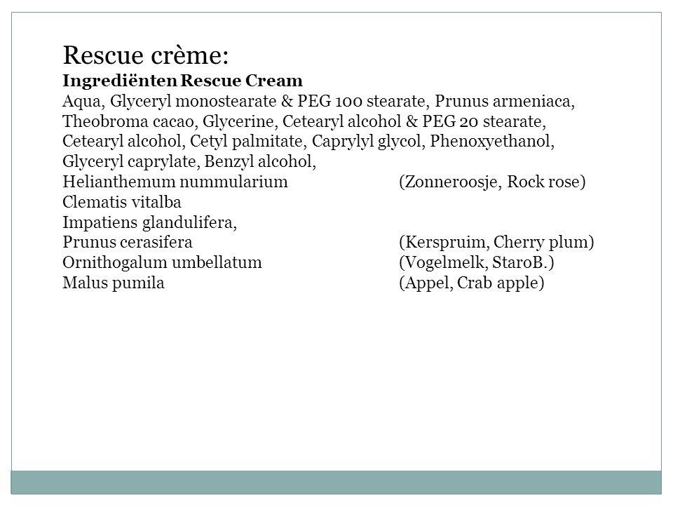 Rescue crème: