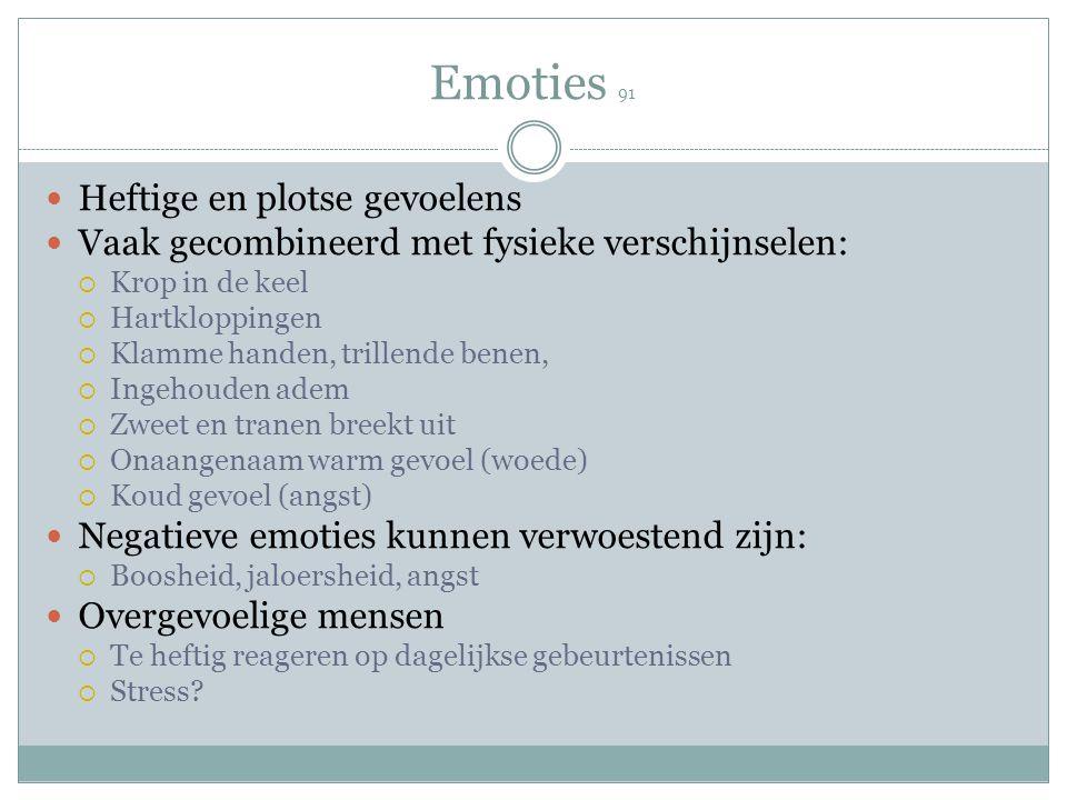 Emoties 91 Heftige en plotse gevoelens