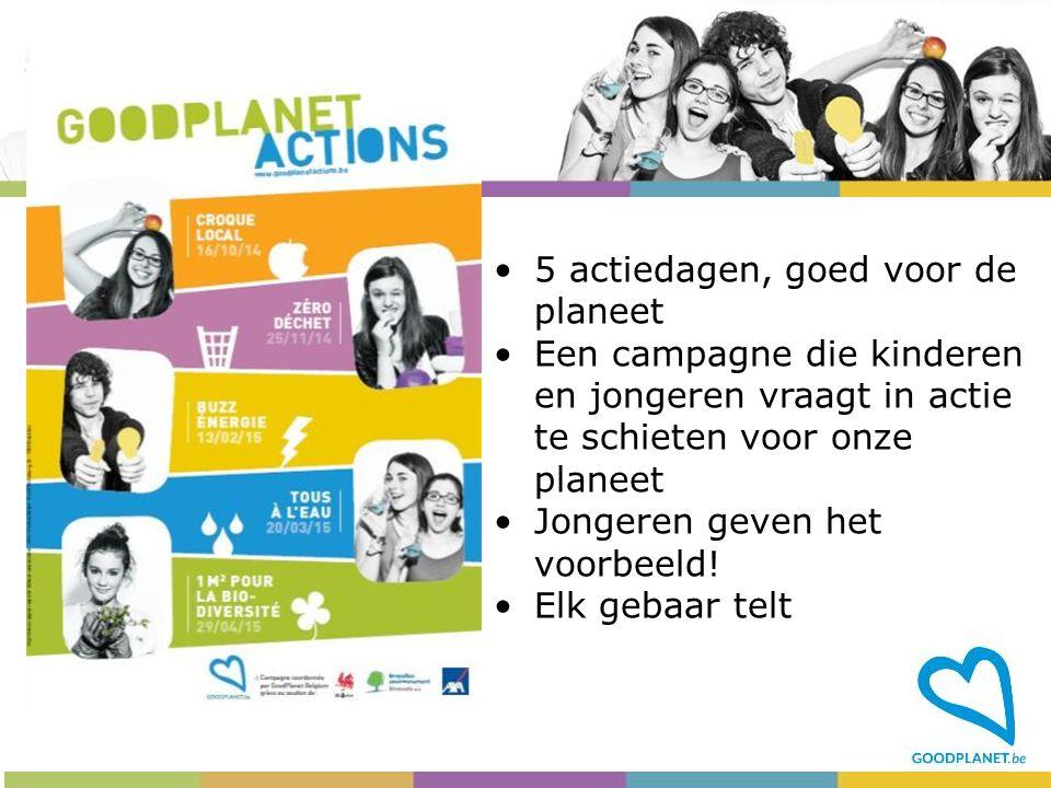 5 actiedagen, goed voor de planeet
