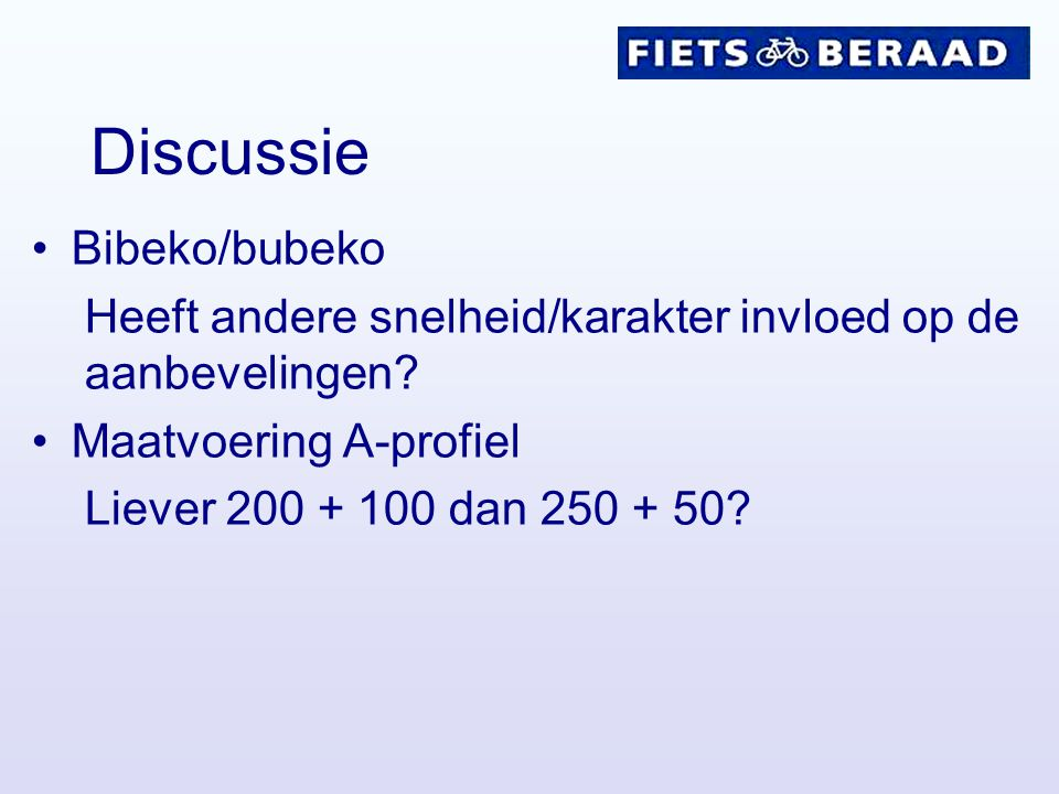 Discussie Bibeko/bubeko