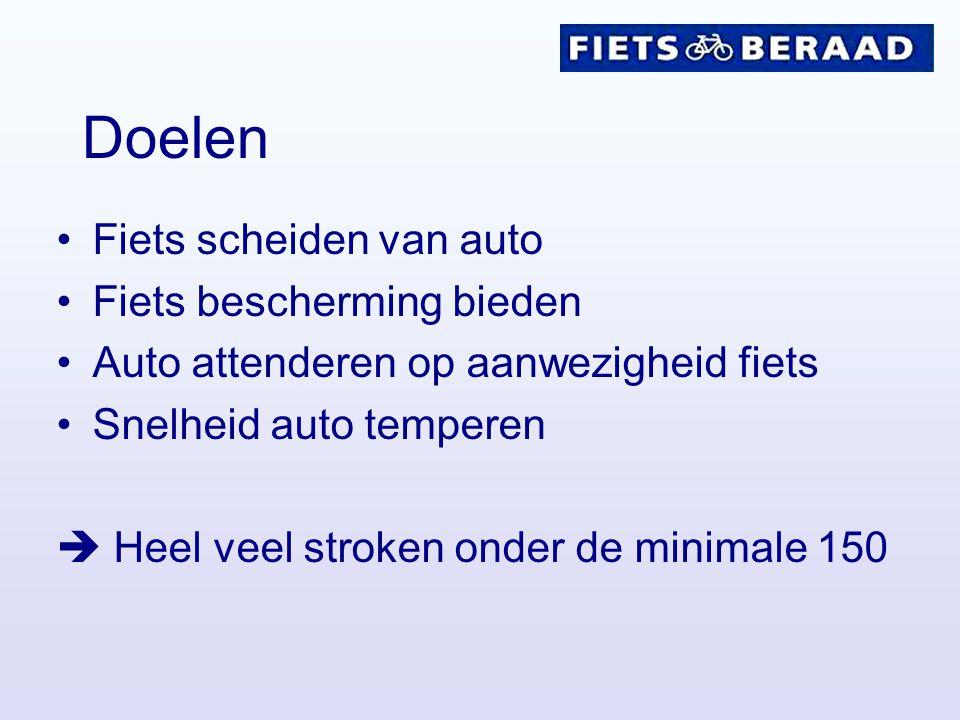 Doelen Fiets scheiden van auto Fiets bescherming bieden