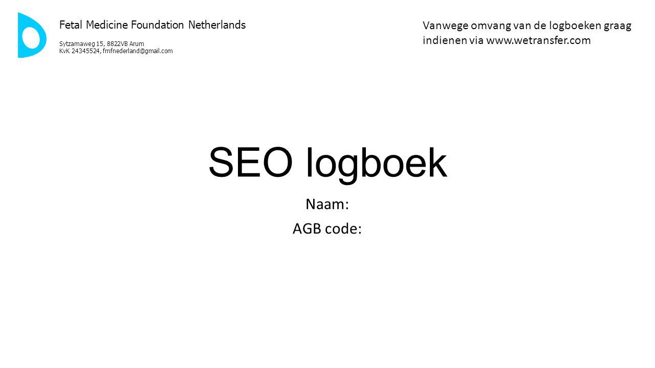 SEO logboek Naam: AGB code: