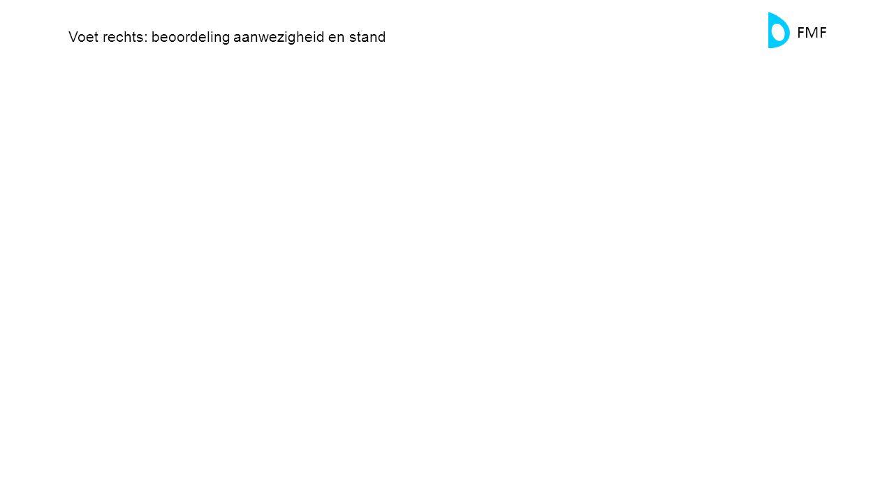 Voet rechts: beoordeling aanwezigheid en stand
