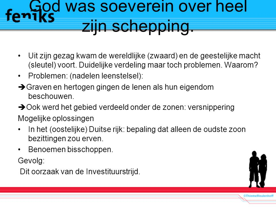 God was soeverein over heel zijn schepping.