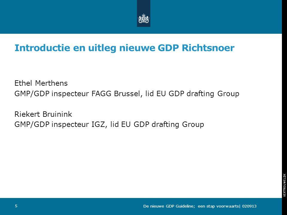 Introductie en uitleg nieuwe GDP Richtsnoer