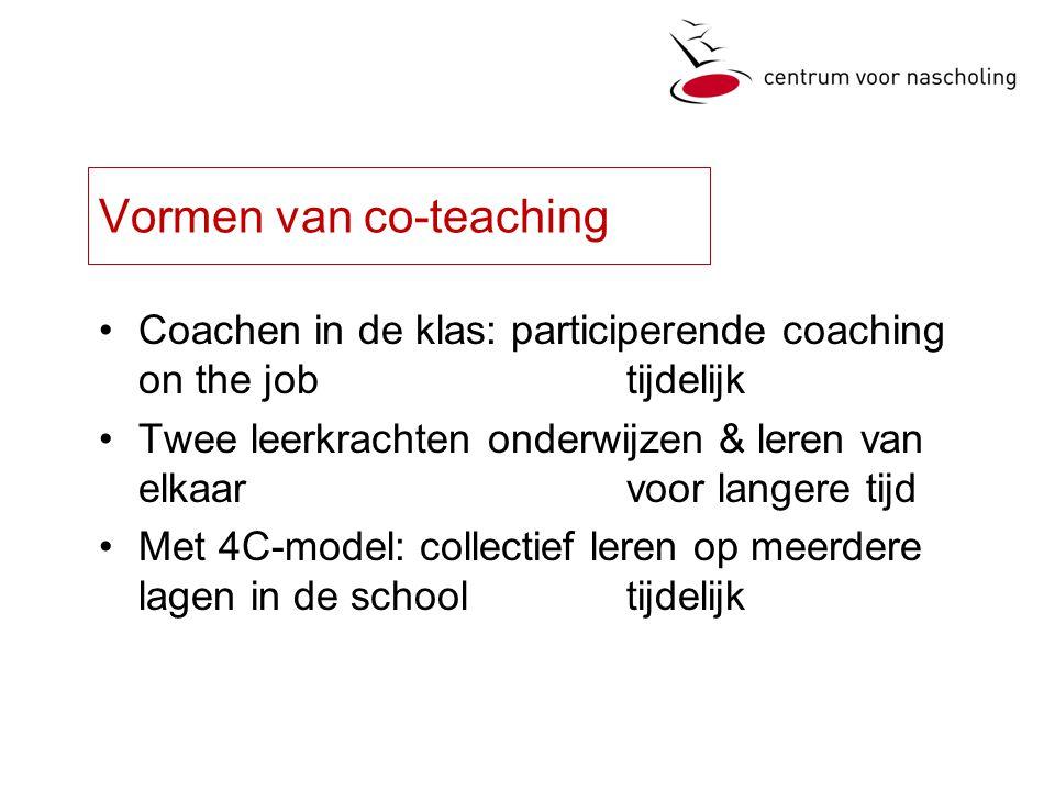 Vormen van co-teaching