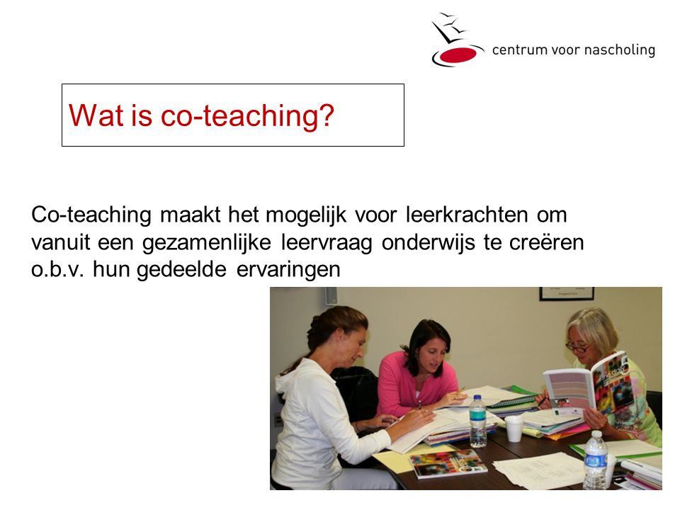 Wat is co-teaching