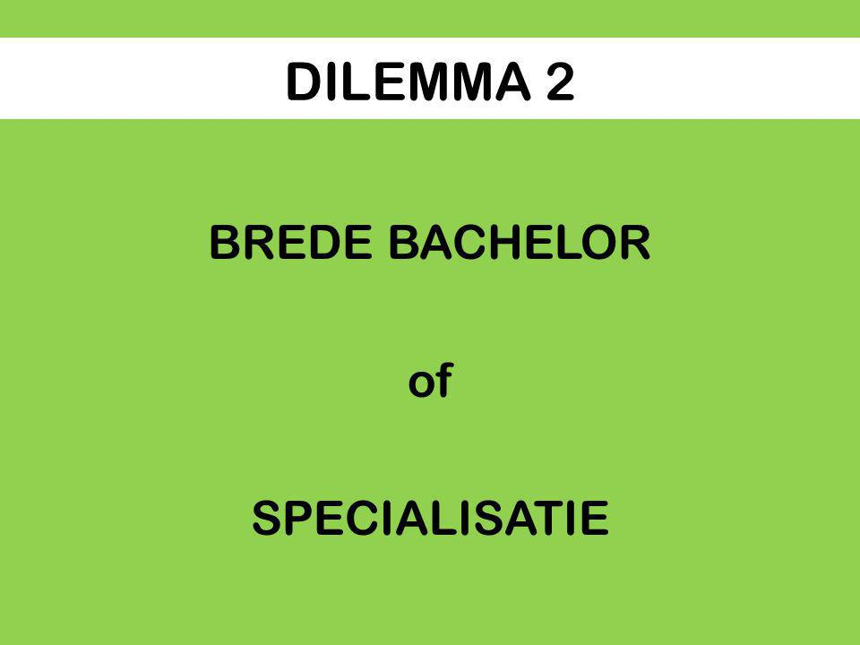 DILEMMA 2 BREDE BACHELOR of SPECIALISATIE
