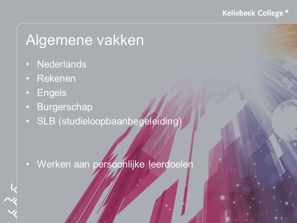 Algemene vakken Nederlands Rekenen Engels Burgerschap