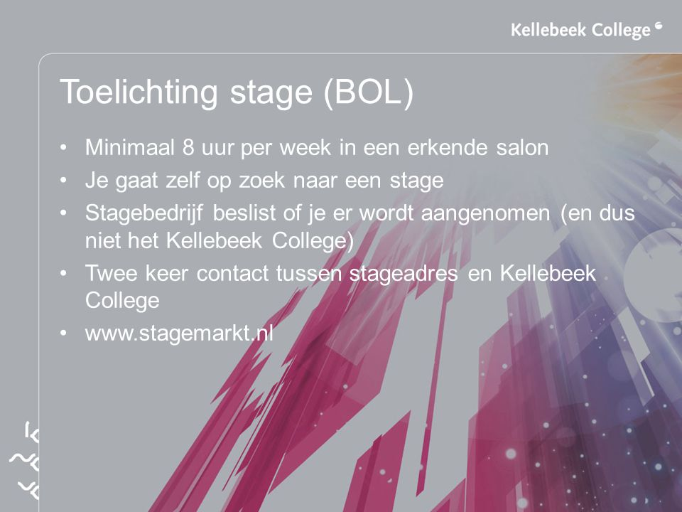 Toelichting stage (BOL)
