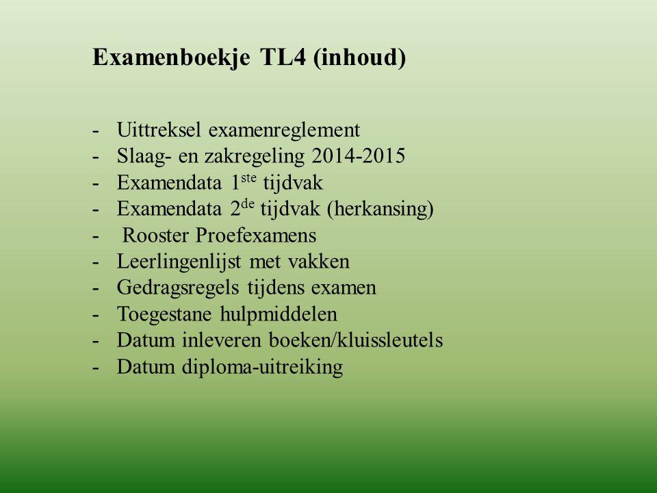 Examenboekje TL4 (inhoud)