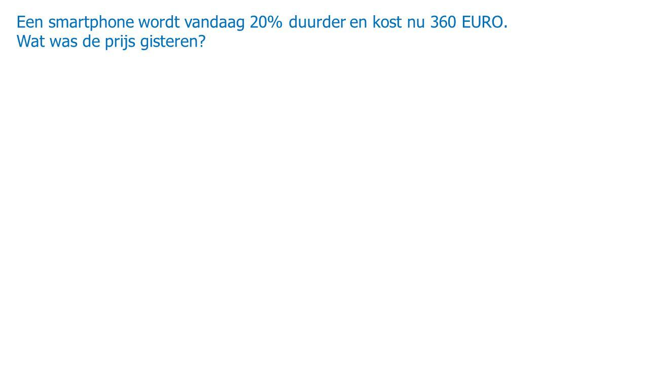 Een smartphone wordt vandaag 20% duurder en kost nu 360 EURO.