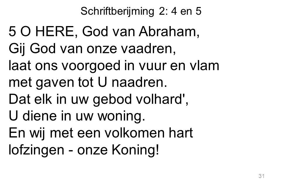 Schriftberijming 2: 4 en 5