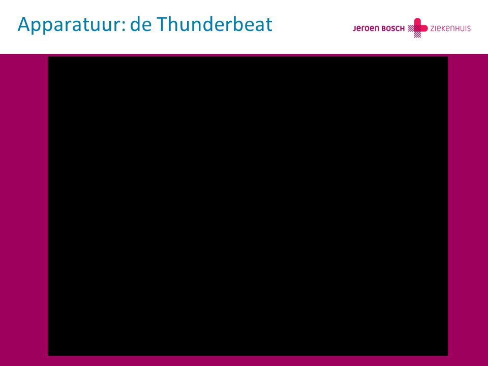 Apparatuur: de Thunderbeat
