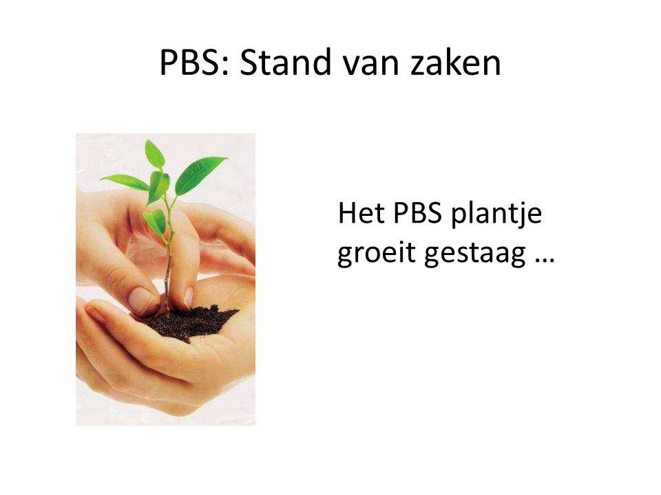 PBS: Stand van zaken Het PBS plantje groeit gestaag …