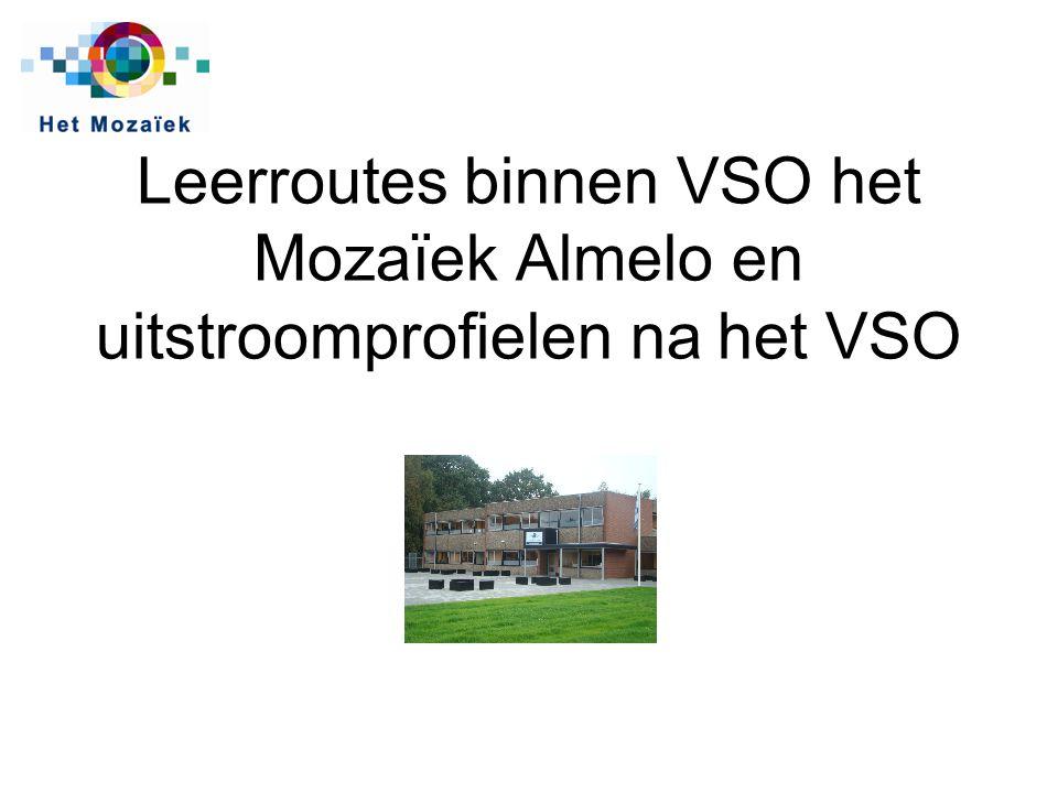 Leerroutes binnen VSO het Mozaïek Almelo en uitstroomprofielen na het VSO