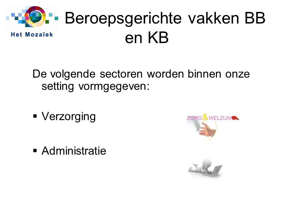 Beroepsgerichte vakken BB en KB