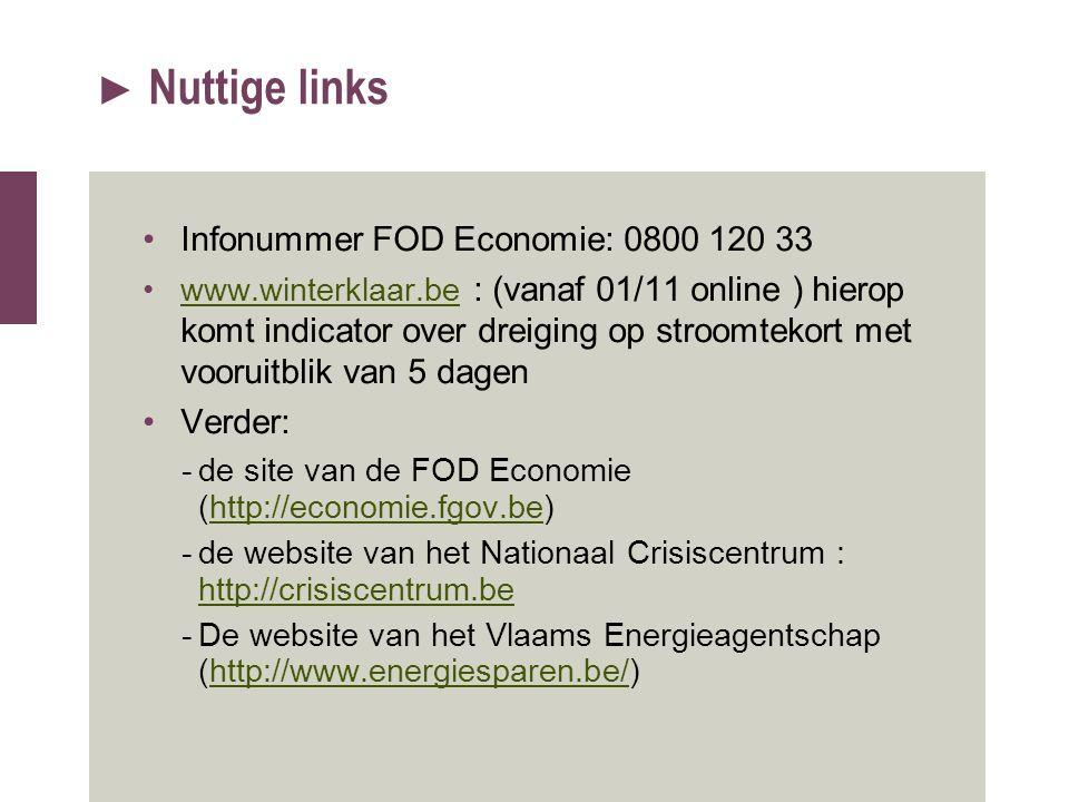 Nuttige links Infonummer FOD Economie: 0800 120 33 Verder: