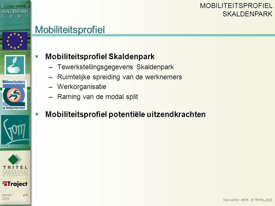Mobiliteitsprofiel Mobiliteitsprofiel Skaldenpark