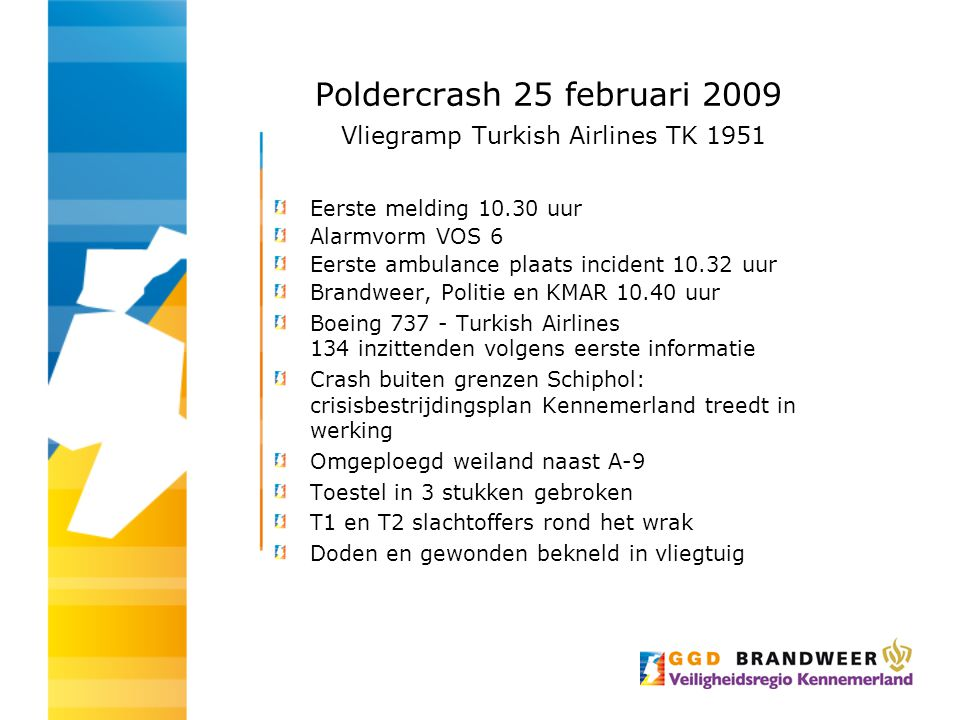 Poldercrash 25 februari 2009 Vliegramp Turkish Airlines TK 1951