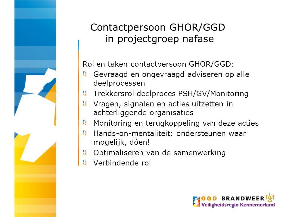 Contactpersoon GHOR/GGD in projectgroep nafase