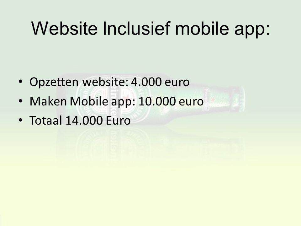 Website Inclusief mobile app: