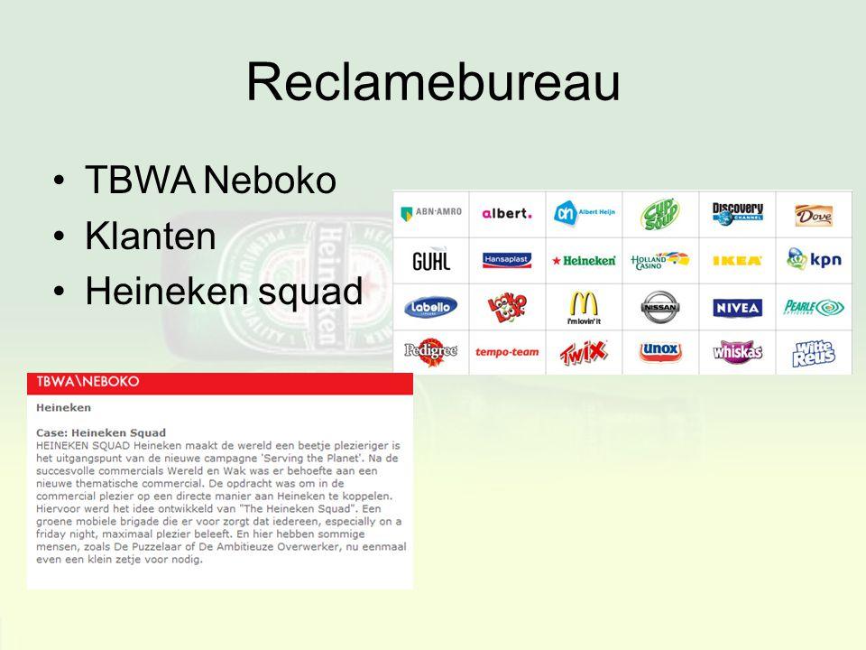 Reclamebureau TBWA Neboko Klanten Heineken squad