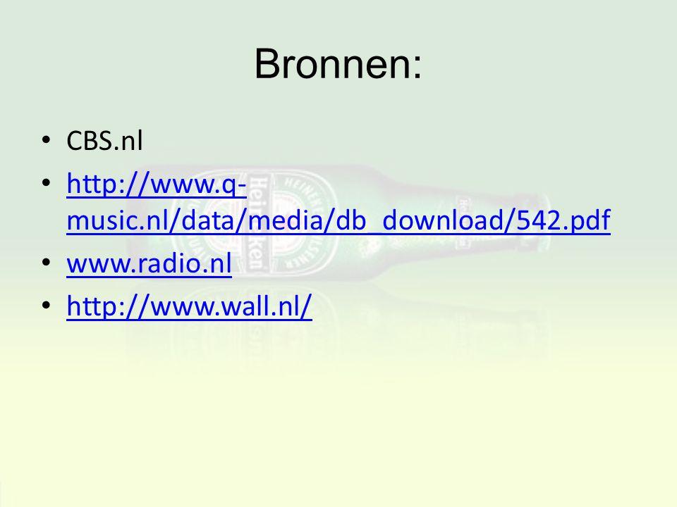Bronnen: CBS.nl http://www.q-music.nl/data/media/db_download/542.pdf