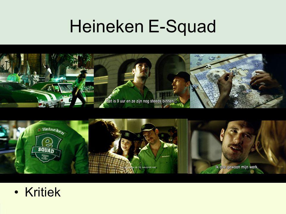 Heineken E-Squad Kritiek